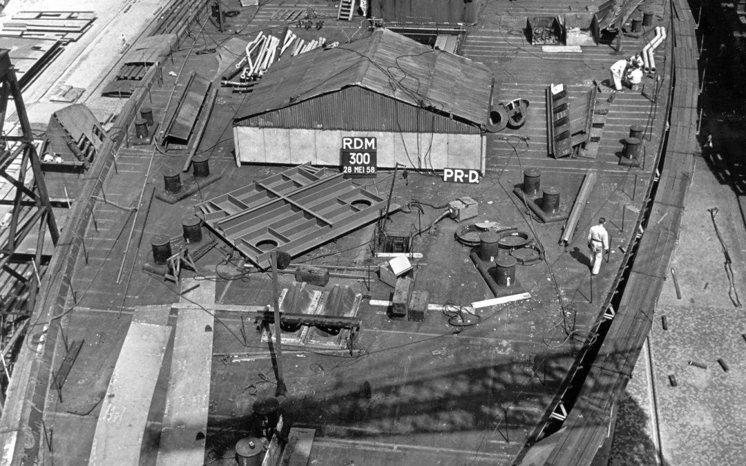 Bouwnummer 300 in mei 1958